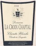 DOMAINE LA CROIX CHAPTAL CLAIRETTE  BLANC 2014