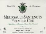 DOMAINE BELLAND MEURSAULT SANTENOTS 1er Cru BLANC 2011