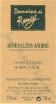 DOMAINE DE RANCY RIVESALTES AMBRE  4 ANS