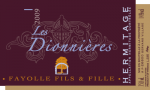 DOMAINE FAYOLLE LES DIONNIERES BLANC 2011