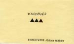 RAINER WESS WACHAUER 2016 GRUNER VELTLINER