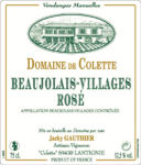 DOM. DE COLETTE BEAUJOLAIS VILLAGES ROSE 2010